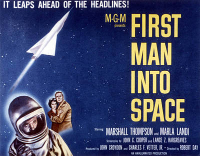 First Man Into Space, 1959 Print by Everett