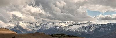 First Snow 2012 Rocky Mountains Print by Larry Darnell