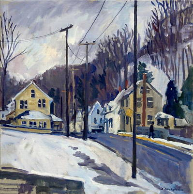 First Snow New England Print by Thor Wickstrom