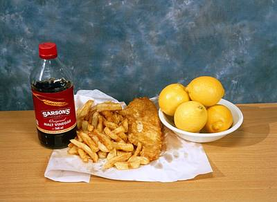 Fish And Chips Print by Andrew Lambert Photography