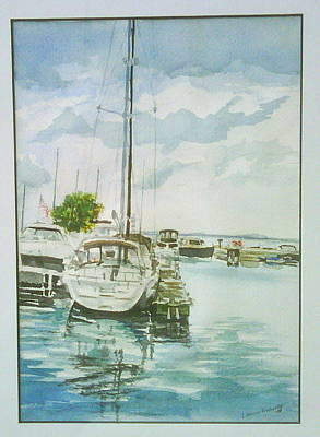 Fish Creek Harbor Print by Laurel Fredericks