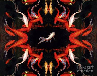 Koi Digital Art - Fish On Stage by Dale   Ford