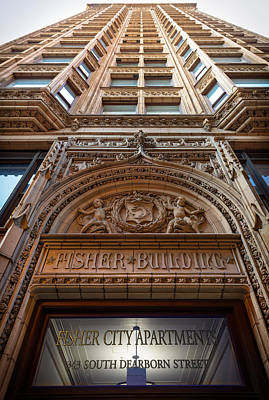 Fisher Photograph - Fisher Building Chicago by Steve Gadomski