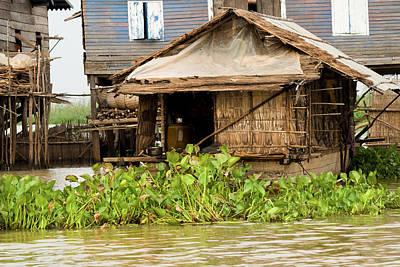 Bamboo House Photograph - Fisherman Boat House by Artur Bogacki