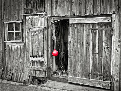 Fishermans Shed Print by Lutz Baar