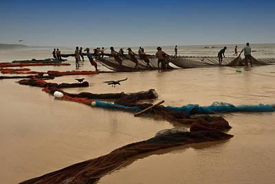 Fishermen At Work Original by Mukesh Srivastava