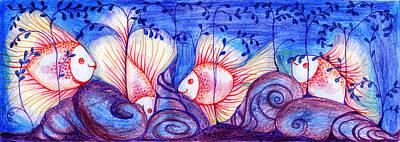 Fishes Print by Hong Diep Loi