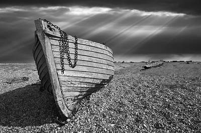 Fishing Boat Graveyard 2 Print by Meirion Matthias