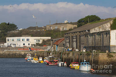 Fishing Boats Hayle Harbour Print by Brian Roscorla