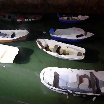 Sea Photograph - Fishing Boats by Jl Zufiria