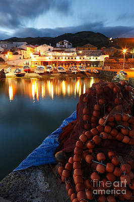 Saint Michael Photograph - Fishing Harbour At Dusk by Gaspar Avila