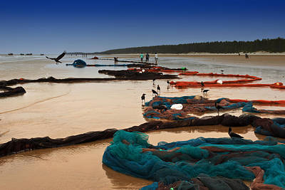 Fishing Net Original by Mukesh Srivastava