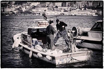Fishing On The Golden Horn Original by Joan Carroll