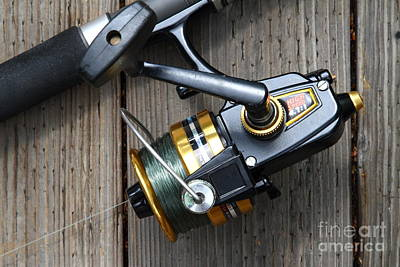 Gone Fishing Photograph - Fishing Rod And Reel . 7d13565 by Wingsdomain Art and Photography