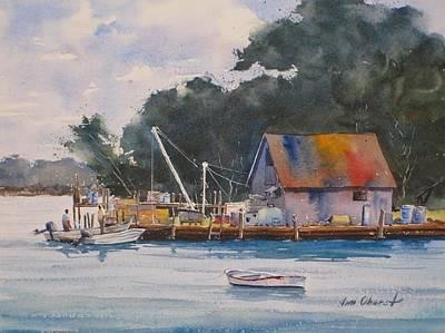 Penobscot Bay Painting - Fishing Shack by Jim Oberst