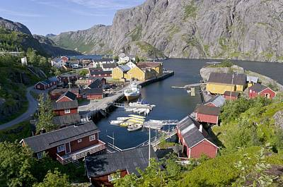 Fishing Village, Norway Print by Dr Juerg Alean