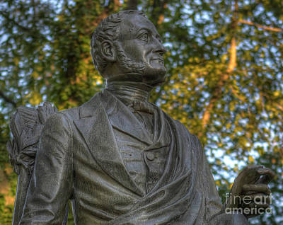 Fitz Greene Halleck In Central Park II Print by Lee Dos Santos