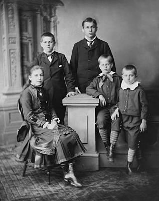 Five Children Of President James Print by Everett