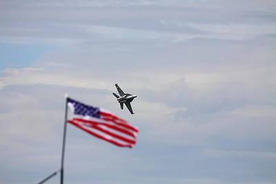 Flag Super Hornet Print by Kevin Schrader