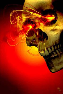 Skull Digital Art - Flare by Vic Weiford