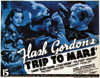 Flash Gordons Trip To Mars, Top Left Print by Everett