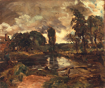 Ideal Painting - Flatford Mill From The Lock by John Constable