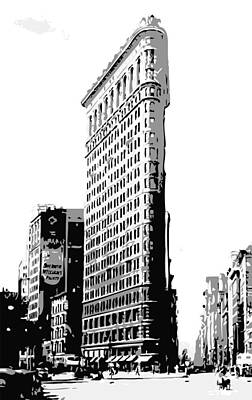 Flatiron Building Bw3 Print by Scott Kelley