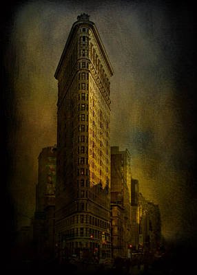Nightlights Photograph - Flatiron Building...my View..revised by Jeff Burgess