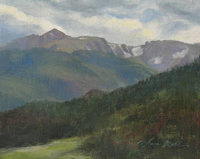 Flattop Mountain Print by Anna Rose Bain