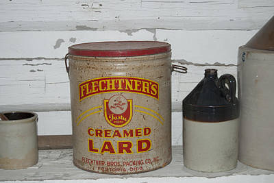 Old Crocks Photograph - Flechtners Creamed Lard by Michael Peychich