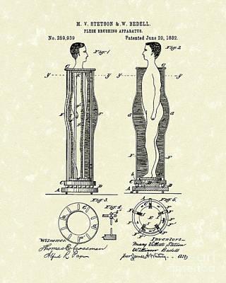 Flesh Brushing Apparatus 1882 Patent Art Print by Prior Art Design