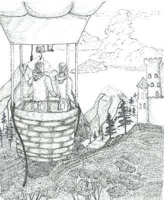 Flight Of Fancy - Sketch Print by Robert Meszaros