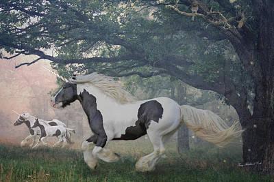 Gypsy Digital Art - Flight Of The Unicorns by Terry Kirkland Cook