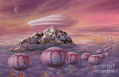 Painting - Floaters by Lynette Cook