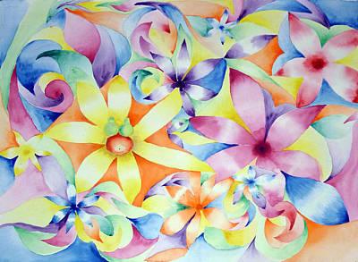Floral Fractal Print by Linda Pope