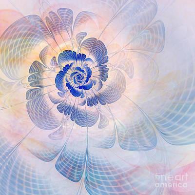 Abstract Digital Art Digital Art - Floral Impression by John Edwards