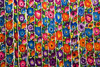 Floral Textile Print by Gloria & Richard Maschmeyer