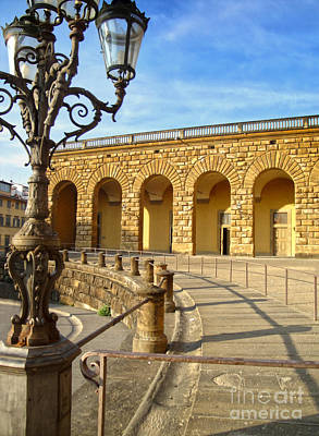 Florence Italy - Pitti Palace - 01 Print by Gregory Dyer