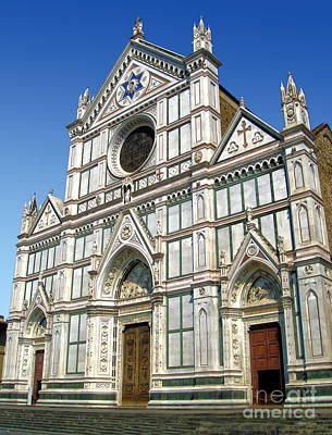 Florence Italy - Santa Croce - 02 Print by Gregory Dyer