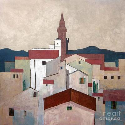 Florence Rooftops Print by Micheal Jones