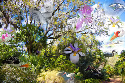 Florida Collage Print by Betsy Knapp