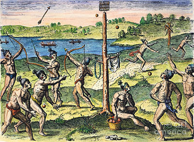 Florida Native Americans:sports, 1591 Print by Granger