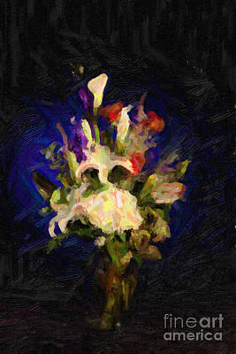 Flower Arrangement Painting Print by M K  Miller
