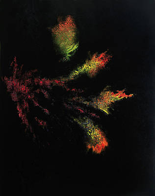 The Void Painting - Flower Darkness by Colin Young