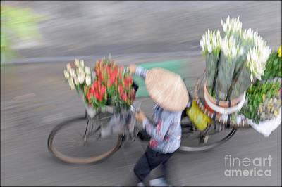 Vietnam Photograph - Flower Seller by Marion Galt