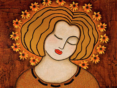 Icon Mixed Media - Flowering Intuition by Gloria Rothrock
