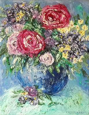 Maryann Painting - Flowers For Dawn by MaryAnn Ceballos