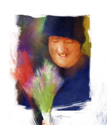 Senior Digital Art - Flowers For Sale by Bob Salo