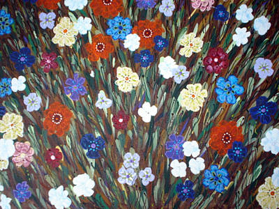 Flowers Galore Original by Paula Bramlett