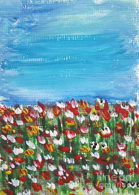 Flowers In Garden Print by Yvo Tenerife